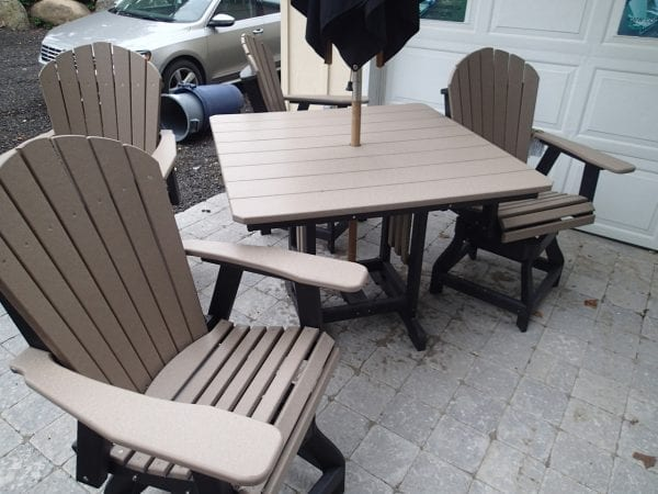 "44"" square Balcony or Pub Table $649"